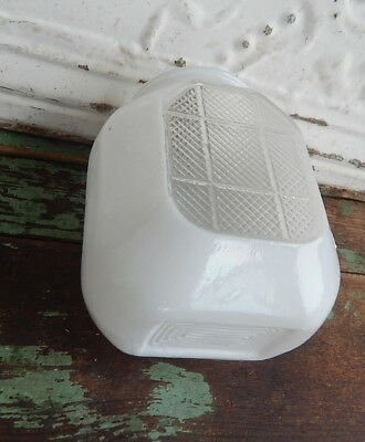 Vintage Antique Milk Glass Wall Sconce Art Deco Shade Clear bottom