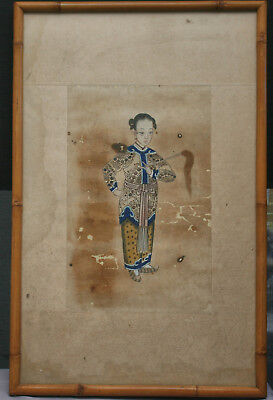 Extremely Rare Antique Chinese Painting On Temple Yuanbao (元宝)  c1780s Framed