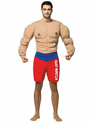 504352d9ab Bay Watch Lifeguard Muscle Beach Occupations Dress Up Mens Costume OS