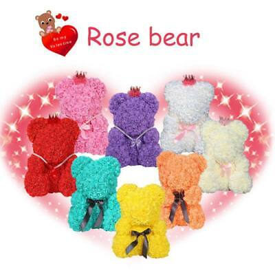 2019 Teddy Bear Rose Flower Girlfriend Birthday Valentine Anniversary Gift Box