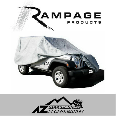 Rampage Custom Fit Traspirante Cover 2007-2017 Jeep Wrangler JK 2 Door 1203 Gray