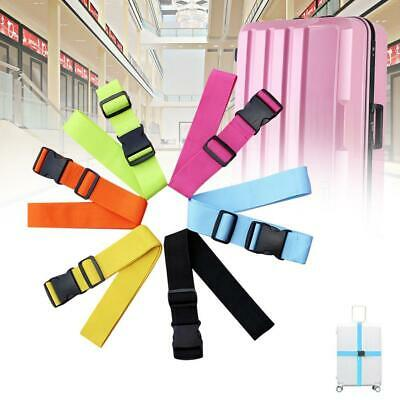 Adjustable Suitcase Luggage Straps Travel Baggage Tie Down Belt Lock Packing JL