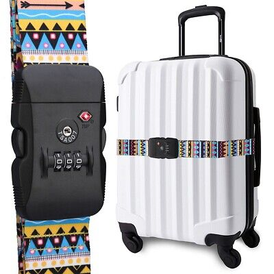 TSA Luggage Straps Suitcase Belts Security Locks with 3-Digit Coded for Travel