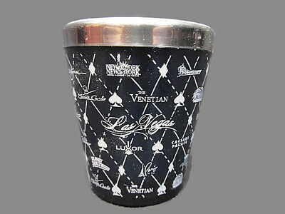 Las Vegas Different Casinos Stainless Standard Shot Glass Collectible Barware