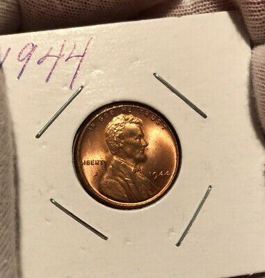 1944 Lincoln Wheat Cent! Choice Bu! Nice Red Piece!