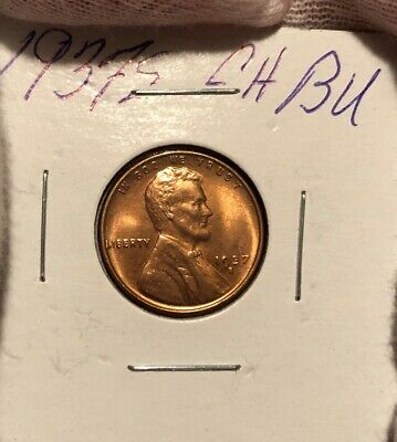 1937-S Lincoln Wheat Cent! Choice Bu! Nice Red Piece!