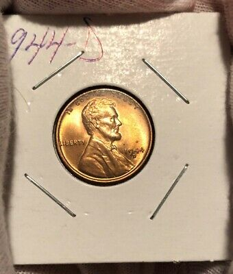 1944-D Lincoln Wheat Cent! Choice Bu! Nice Red Piece!