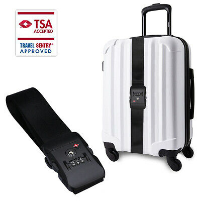 Superior Strength NON-SLIP Luggage Strap Travel Suitcase Belt with TSA Lock, US