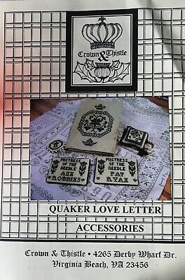 Quaker love Letter accessories by Crown and Thistle