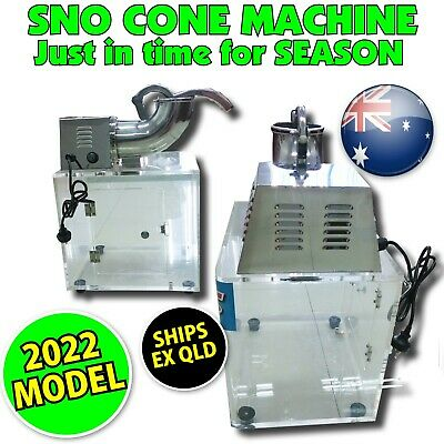 Snow Cone Machine Commercial - Sno & Fairy Floss users ICE SHAVER business