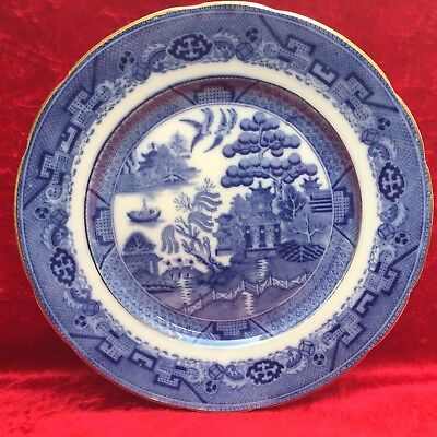 Antique Booths Silicon China 'Davenport Willow' 10.25' Plate, Dated May 1915~EX