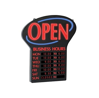 "Newon LED Lighted Business""Open"" Sign, Electronic Programmable Business Hours x"