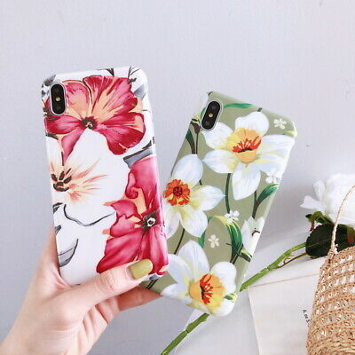Luxury Floral Pattern IMD Soft TPU Case Cover For iPhone XS Max XR X 8 7 6S Plus