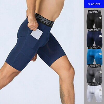 Sport Men's Compression Boxer Shorts Base Layer Brief Pants Running Gym Shorts
