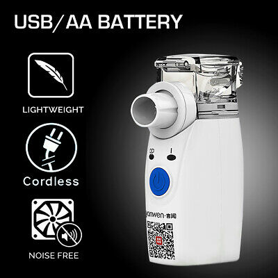 Mini Portable Travel Rechargeable Battery Ultrasonic Nebulizer for Asthma Colds