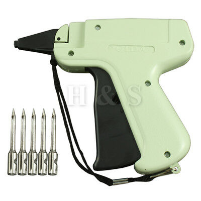 Quality Tagging Gun +5 Steel Needle +1000 Kimble Tag Price Label System Barbs