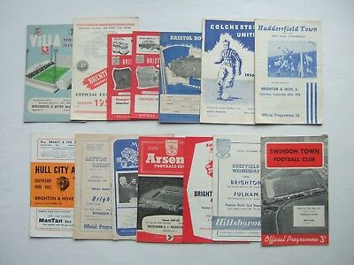 Brighton 1950's Away Football Programmes and Hove Albion