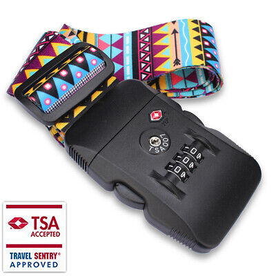 Travel Buckle Lock Tie Down Belt for Baggage, with TSA Lock Luggage Straps HOT