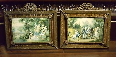 Pair Of Antique Ormolu French Victorian Ormolu Bronze Brass Frames