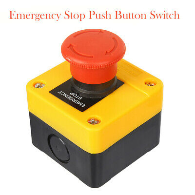 1pcs Emergency Stop Button / Stop Switch Twist To Release 1 NO+NC Contact
