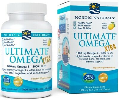 (60g, 58,47 EUR/100g) Nordic Naturals Ultimate Omega Xtra, 1480mg Lemon - 60 so