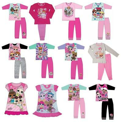 Girls Childrens LOL Dolls Nightwear Sleepwear Pyjama Set Nightdress Nightie Gift