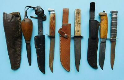 5 Interesting Vintage Hunting Knives & Splicer? 1900s Bespoke etc