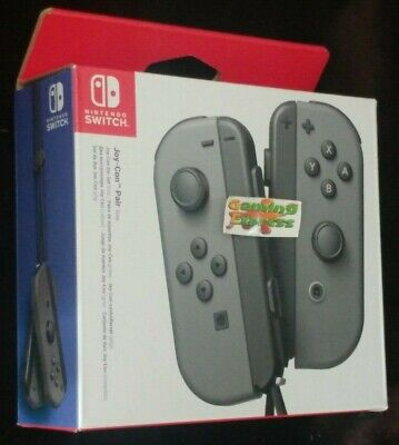 Official Nintendo Switch Joy-Con Controller Pair - Grey NSW NEW SEALED UK SELLER