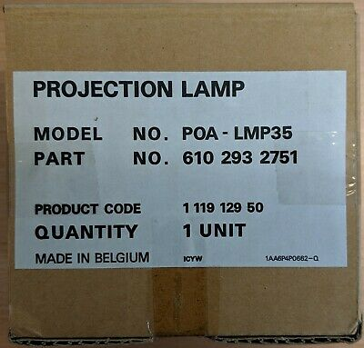 Genuine New Sanyo POA-LMP35 (610 293 2751) Projection Lamp