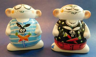 Goebel Collections Novelty Redhead Twins Supa Sta Salt & Pepper Shakers