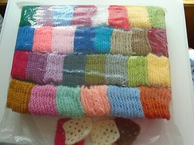 300 x hand crocheted squares in various colours