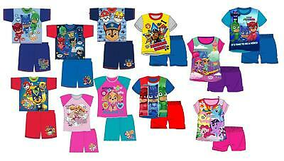 Boys Girls Short Pyjamas PJ Set Pajamas Sleepwear Nightwear Summer