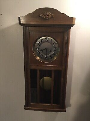 vintage junghans 8 Day clock Chime 13-1/2 X30-1/2 Inch Tall Working
