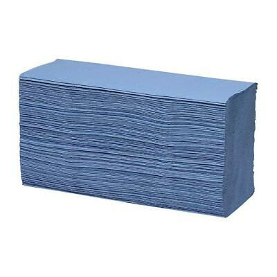 Maxima Hand Towels Z-Fold Blue 1-Ply 100% recycled 200 Sheets/Sleeve [15 Sleeves