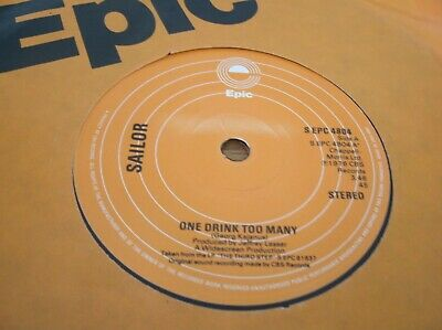 Sailor - One Drink Too Many  Uk 1976