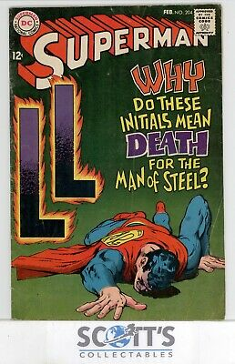 Superman  #204  Fn   (Boarded & Bagged)