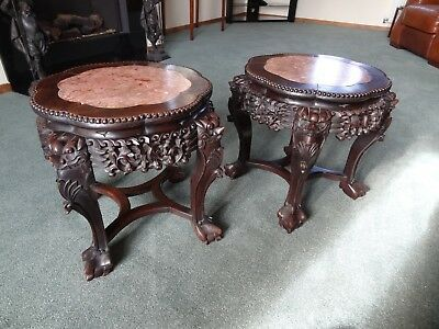 Pair 19th century Rosewood Pot / Jardiniere stands or tables