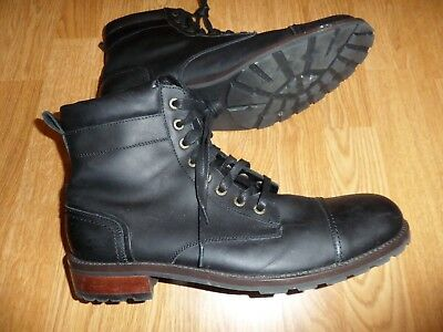 94009351db4 NEW* WOLVERINE REESE Cap Toe Leather Boot, Black, Work, Combat ...