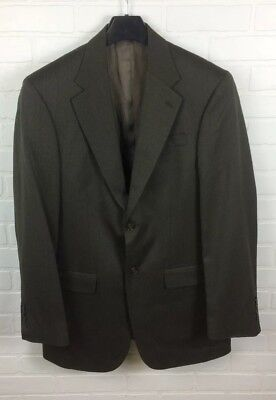 Geoffrey Beene 38L W31 Men's Suit Jacket 100% WOOL Brown Sport Coat