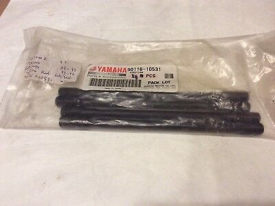 Yamaha FZR1000 GTS1000 YZF1000 CYLINDER BOLT Stud SET OF 4 90116-10531 Genuine
