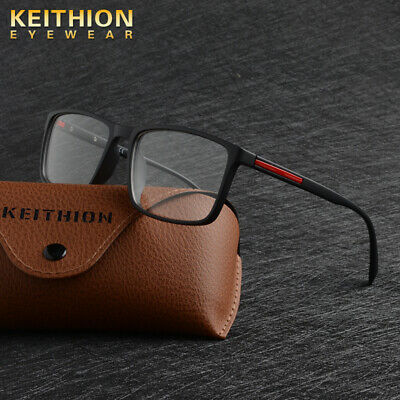 KEITHION TR90 Men Women Optical Square Eyeglass Frame Spectacles Glasses Rx Able