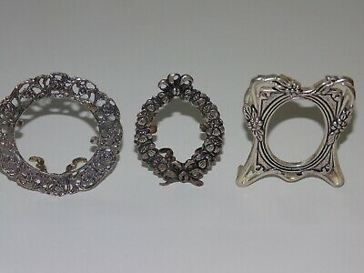 Various Antique Very Old Vintage Small Sterling Silver 925 Photo Picture Frames
