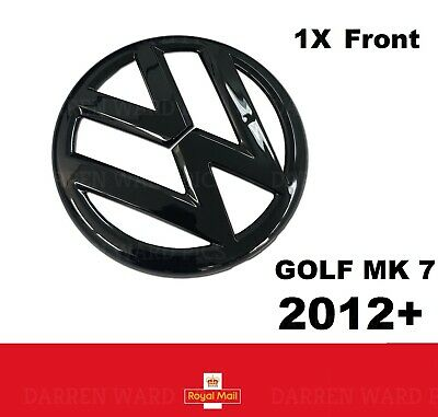 VW Golf MK7 VII Gloss Black Front Grill Bonnet Badge Fits 2012 - 2017 Front Mk 7
