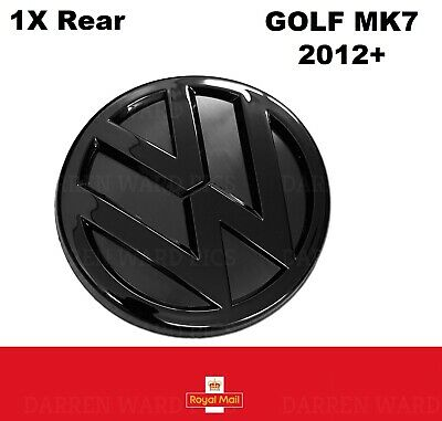 VW Golf MK7 VII Gloss Black Rear Boot Badge Fits 2012 - 2017 Back Rear Mk 7