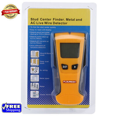 3In1 Stud Center Finder Metal Scan AC Live Wire Detector W/Backlight LCD Display