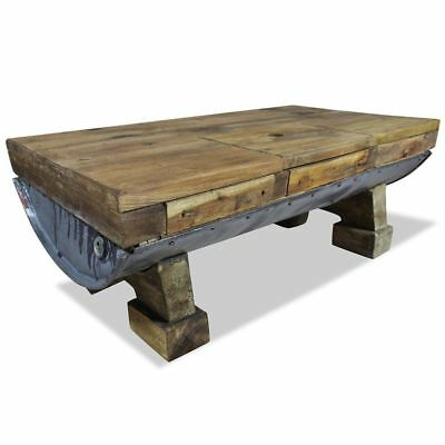 Rustic Farmhouse Coffee Table Solid Wood Side Living Room Furniture Industrial