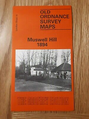 Old Ordnance Survey Map - Muswell Hill 1894 - Alan Godfrey Map