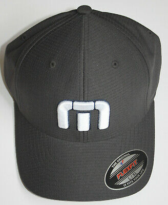 00b14a1da8bbf TRAVIS MATHEW Men s L   XL Dark Grey Blue Golf Cap Hat Flexfit TM Sewn Logo