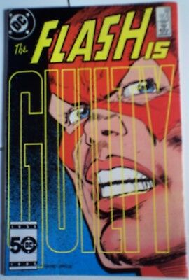 The FLASH 348 DC Comic 3RD TO LAST ISSUE AUG 1985 TRIAL FVF bronze age MORE