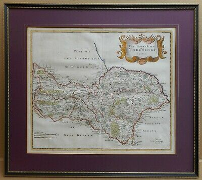 North Riding of Yorkshire. Original 18th Century Copperplate Map, Robert Morden